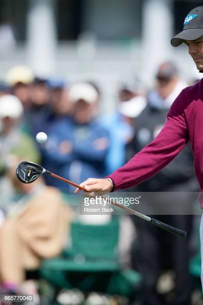 The Masters View of Martin Kaymer bouncing ball with club during Thursday play at Augusta National Equipment Augusta GA CREDIT Robert Beck