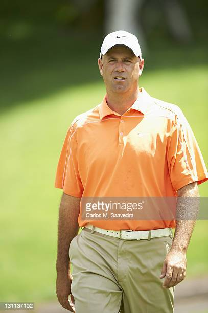 Travelers Championship Stewart Cink during Wednesday practice round at TPC River Highlands Cromwell CT CREDIT Carlos M Saavedra