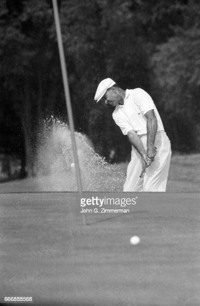 US Open Ben Hogan in action chipping during Thursday play on the East Course of the Oak Hill Country Club Rochester NY CREDIT John G Zimmerman