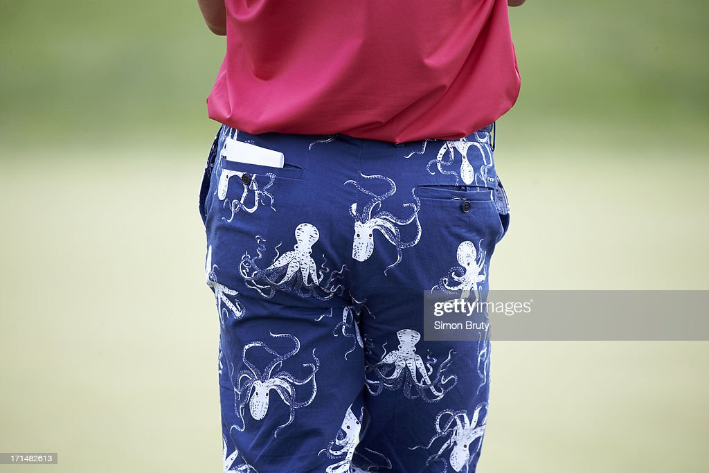Closeup of octopus-patterned pants belonging to Billy Horschel during Sunday play at Merion GC. Simon Bruty F21 )