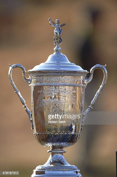 US Open Closeup of trophy during presentation ceremony on Sunday at Chambers Bay GC University Place WA CREDIT Robert Beck