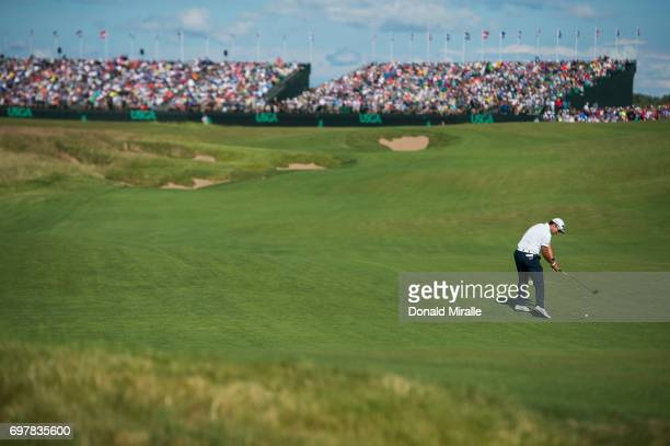 US Open Overall view Hideki Matsuyama in action during Sunday play at Erin Hills GC Hartford WI CREDIT Donald Miralle