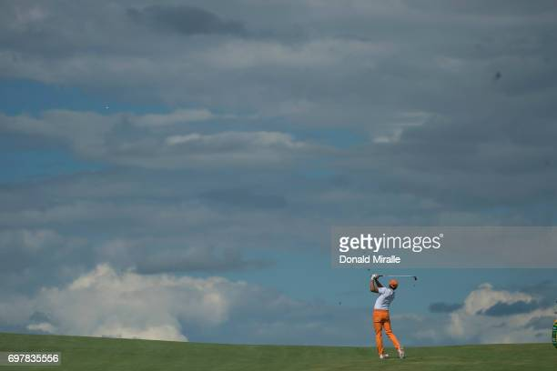 US Open Overall view of Rickie Fowler during Sunday play at Erin Hills GC Hartford WI CREDIT Donald Miralle