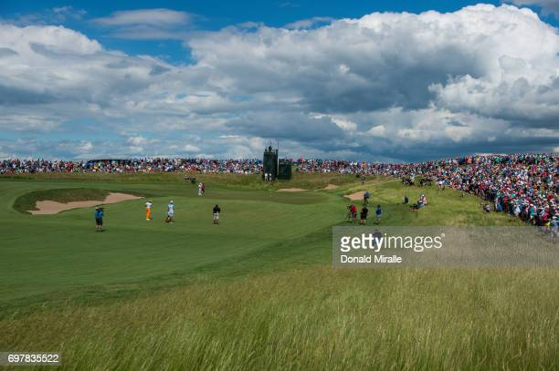 US Open Overall view of Rickie Fowler in action on hole No 5 during Sunday play at Erin Hills GC Hartford WI CREDIT Donald Miralle