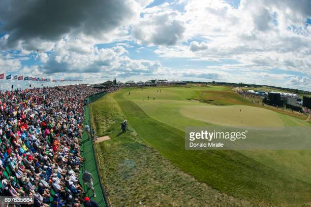 US Open Overall view of spectators and course during Sunday play at Erin Hills GC Hartford WI CREDIT Donald Miralle