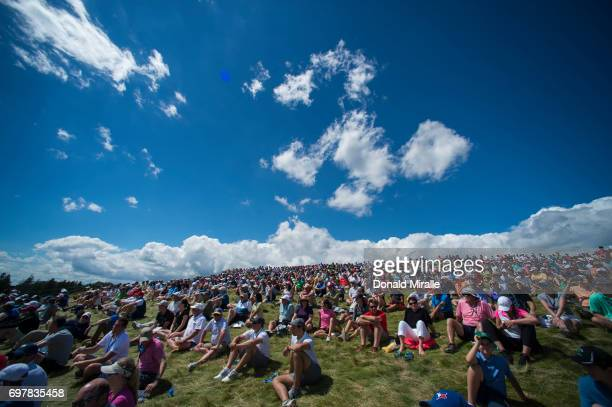 US Open Overall view of spectators during Sunday play at Erin Hills GC Hartford WI CREDIT Donald Miralle