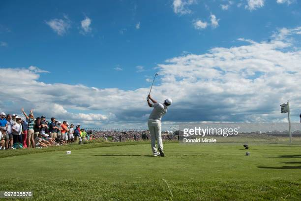 US Open Rear view of Si Woo Kim in action during Sunday play at Erin Hills GC Hartford WI CREDIT Donald Miralle
