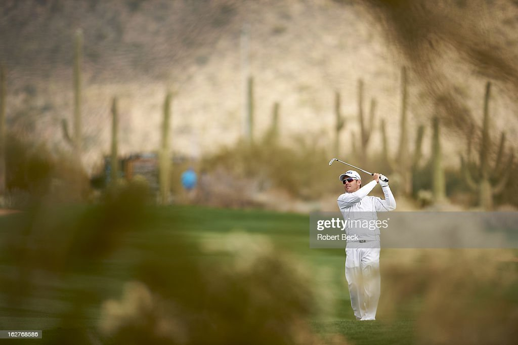 Louis Oosthuizen in action during Wednesday play at Ritz-Carlton GC of Dove Mountain. Robert Beck F169 )