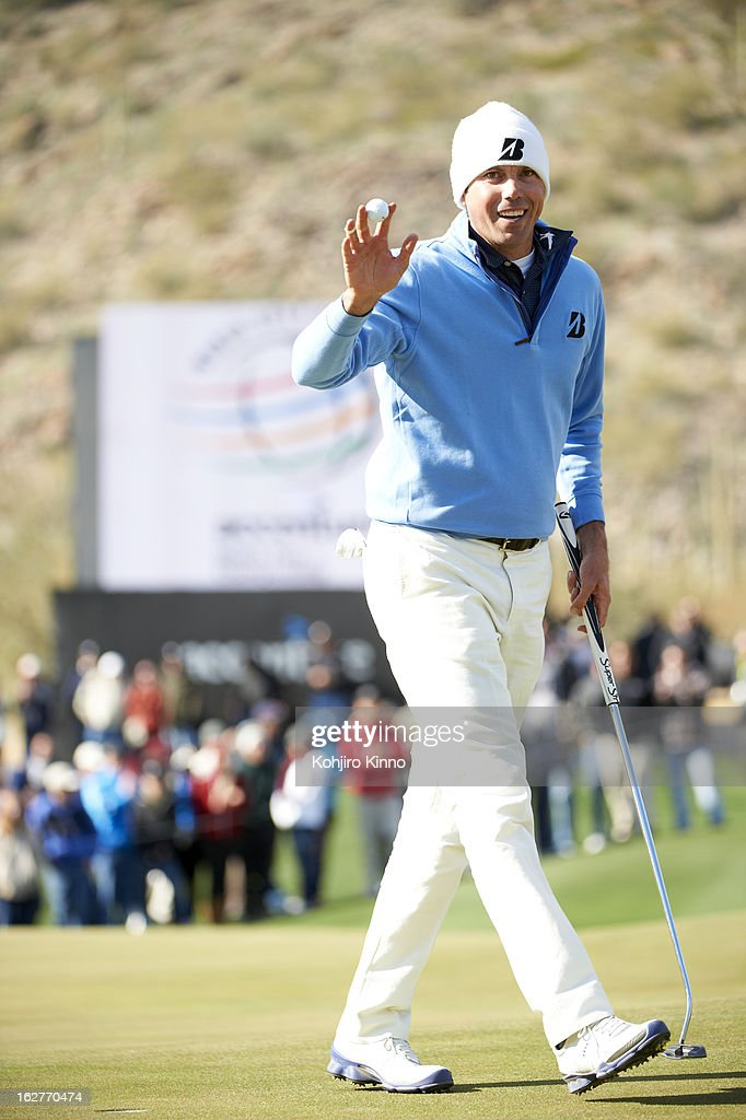 Matt Kuchar victorious during Sunday play at Ritz-Carlton GC of Dove Mountain. Kohjiro Kinno F164 )
