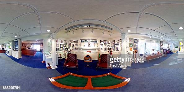 Wide view of display rooms and memorabilia during photo shoot at Latrobe Country Club At the time of his death Arnold Palmer had an estimated 14000...