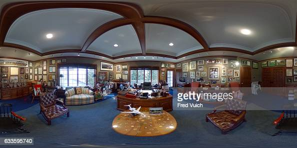 Wide view of office during photo shoot at Latrobe Country Club At the time of his death Arnold Palmer had an estimated 14000 golf clubs scattered...