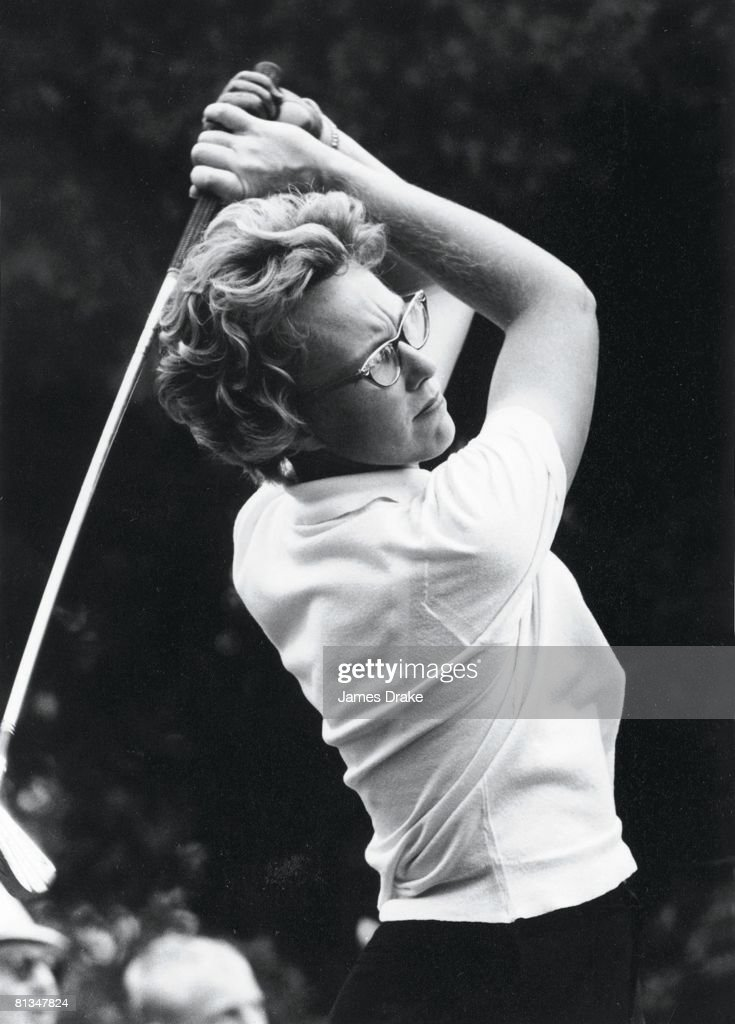 Golf Women's US Open Closeup of Mickey Wright in action at Dunes GC Myrtle Beach SC 6/28/1962