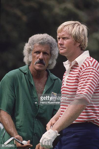 Golf World Open Jack Nicklaus with caddie Angelo Argea Pinehurst NC 9/15/1974