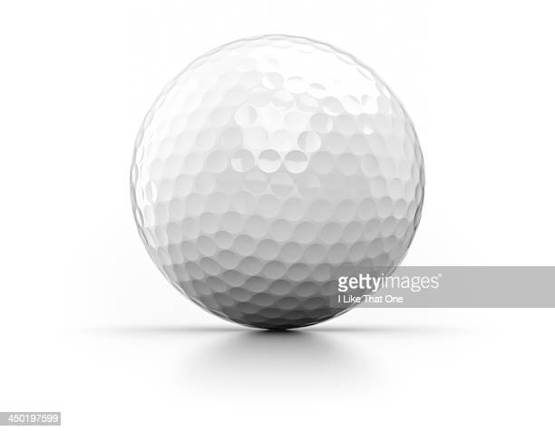 Golfball on white background
