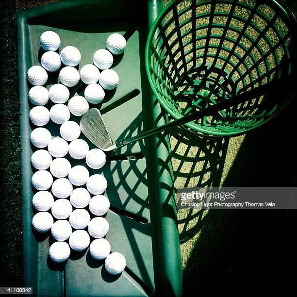 Golfballs at driving range