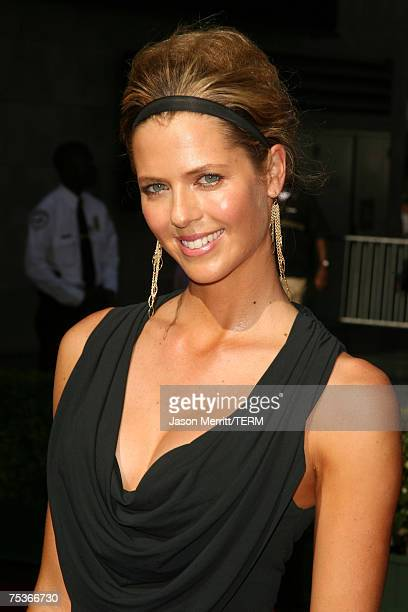 Golfer Anna Rawson arrives at the 2007 ESPY Awards at the Kodak Theatre on July 11 2007 in Hollywood California