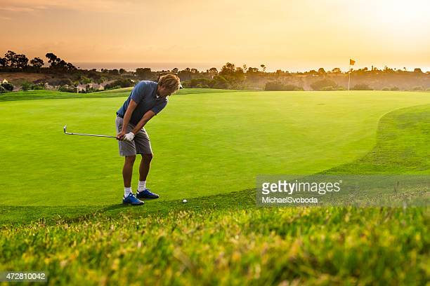 Golfer Chipping