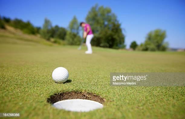 Golfeur pendant une partie