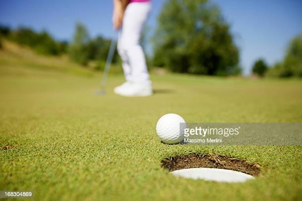 ゴルファーの試合中