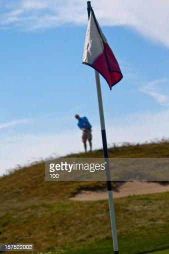 Golfer - Flag : Stock Photo