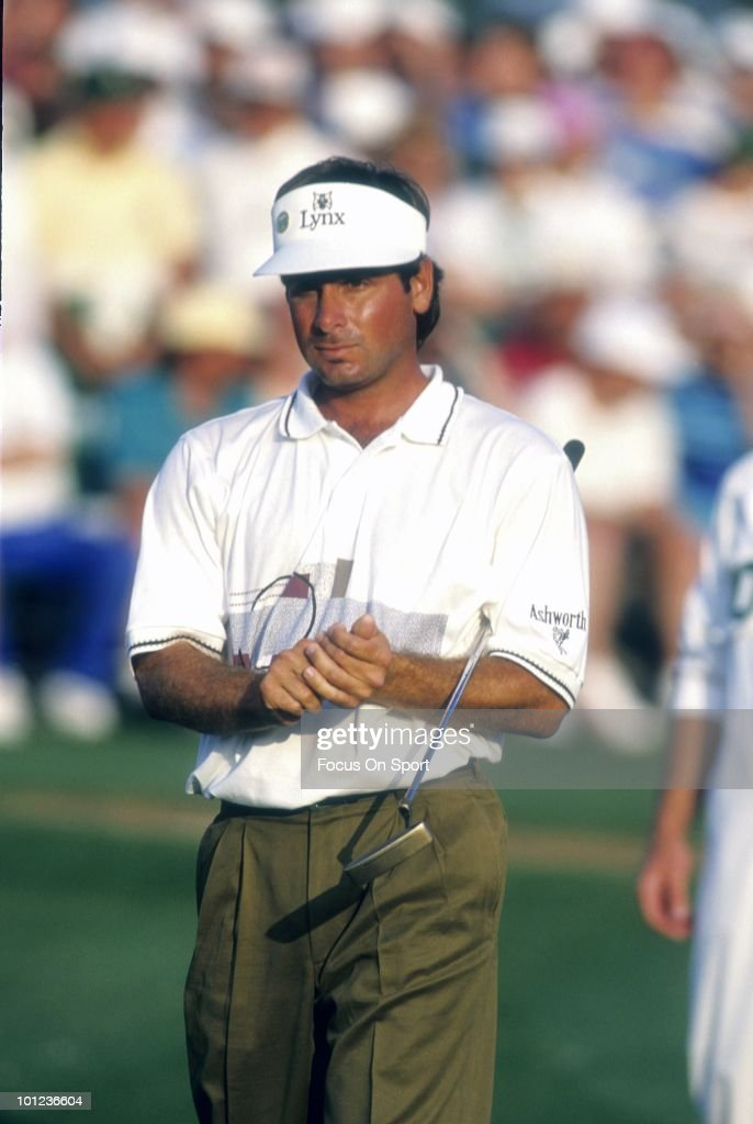 Golfer Fred Couples in this portrait during play April 12, 1992 at the Masters at Augusta National Golf Club in Augusta, Georgia. Couples won the tournament at -13 under par.
