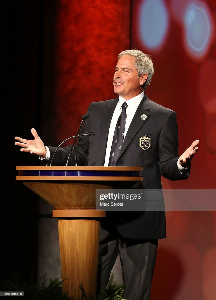 Golfer Fred Couples speaks during his induction into the World Golf Hall of Fame on May 6, 2013 at the World Golf Village in St Augustine, Florida.