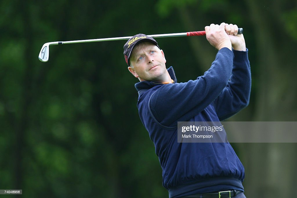 Golfer Gary Brown in action during the PGA Glenmuir Club Professional North East Region Qualifier at Selby Golf Club in Selby on May 2 2007 in...