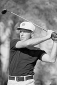 Golfer Gary Player swings his club during the 1972 PGA Championship at Oakland Hills Birmingham Michigan | Location Oakland Hills Birmingham Michigan...