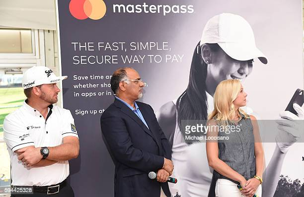 PGA TOUR golfer Graeme McDowell Mastercard Chief Marketing Communications Officer Raja Rajamannar and PGA Tour Host Taryn Schaefer join forces at The...