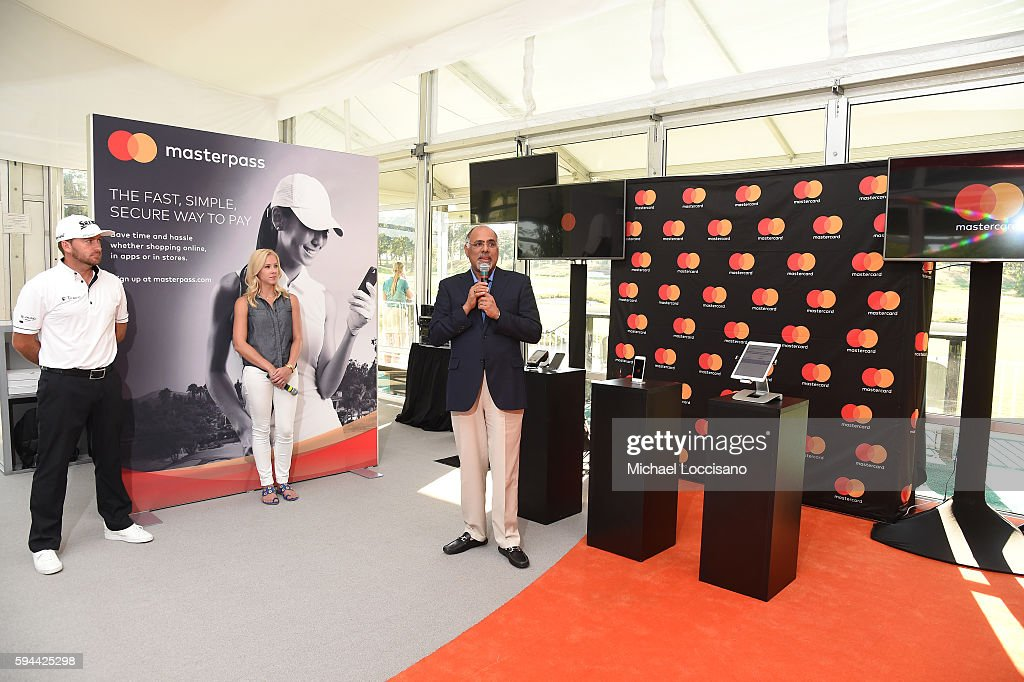 PGA TOUR golfer Graeme McDowell PGA Tour Host Taryn Schaefer and Mastercard Chief Marketing Communications Officer Raja Rajamannar join forces at The...