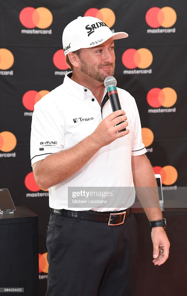 TOUR golfer Graeme McDowell teams up with Mastercard at The Barclays to demonstrate the ease of tapping to pay with Masterpass instore at Bethpage...