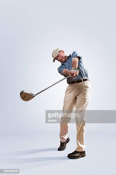 Golfer in Studio