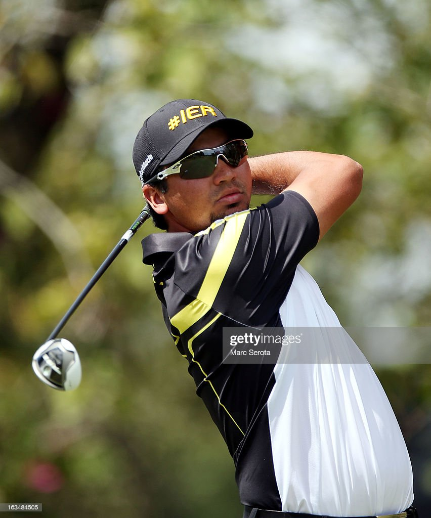 Golfer <a gi-track='captionPersonalityLinkClicked' href=/galleries/search?phrase=Jason+Day+-+Golfer&family=editorial&specificpeople=4534484 ng-click='$event.stopPropagation()'>Jason Day</a> hits on the 12th fairway at the World Golf Championships-Cadillac Championship at the Trump Doral Golf Resort & Spa on March 10, 2013 in Doral, Florida.