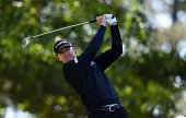 US golfer Jimmy Walker tees off during Round 2 of the 80th Masters Golf Tournament at the Augusta National Golf Club on April 8 in Augusta Georgia /...