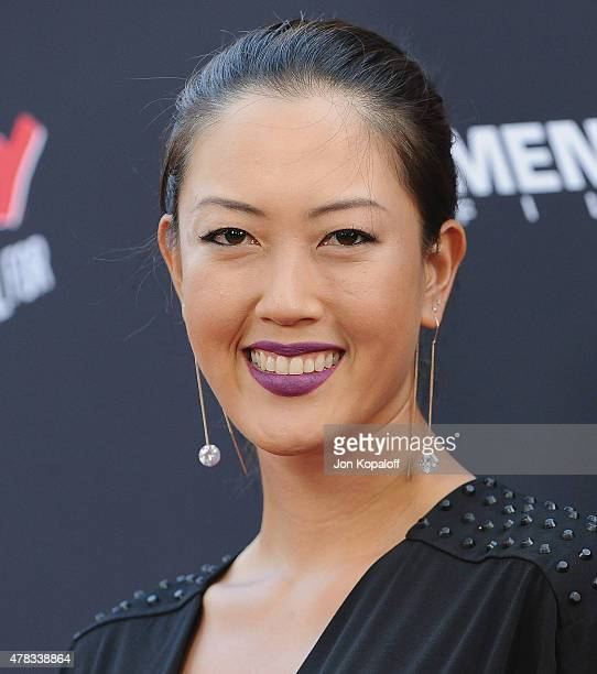 HOLLYWOOD CA Golfer Michelle Wie arrives at the Los Angeles Premiere 'Sin City A Dame To Kill For' at TCL Chinese Theatre on August 19 2014 in...