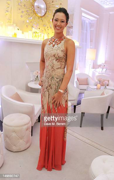 Golfer Michelle Wie attends Golf Day at OMEGA House OMEGA's official residence during the London 2012 Olympic Games at The House of St Barnabas on...