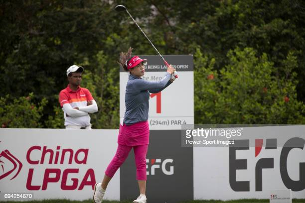 Golfer Panpan Yan of China during the 2017 Hong Kong Ladies Open on June 9 2017 in Hong Kong Hong Kong