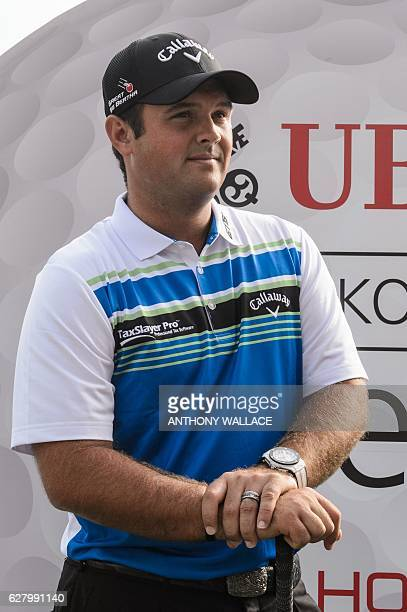 US golfer Patrick Reed looks on after a photocall in Hong Kong on December 6 ahead of the Hong Kong Open golf tournament Reed on December 6 described...