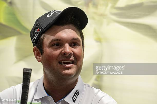 US golfer Patrick Reed speaks during an interview with AFP in Hong Kong on December 6 ahead of the Hong Kong Open golf tournament Reed on December 6...