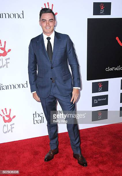 Golfer Rickie Fowler attends the Rihanna And The Clara Lionel Foundation 2nd Annual Diamond Ball at The Barker Hanger on December 10 2015 in Santa...