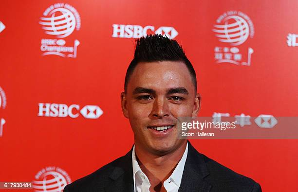 Golfer Rickie Fowler of the United States poses at the Himalayas Centre for a photocall prior to the start of the WGC HSBC Champions on October 25...