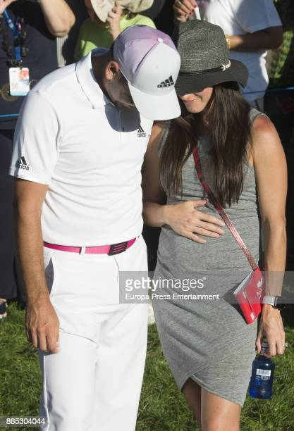 Golfer Sergio Garcia and his wife Angela Akins attend Andalucia Valderrama Masters at Valderrama Royal Club on October 22 2017 in Sotogrande Spain