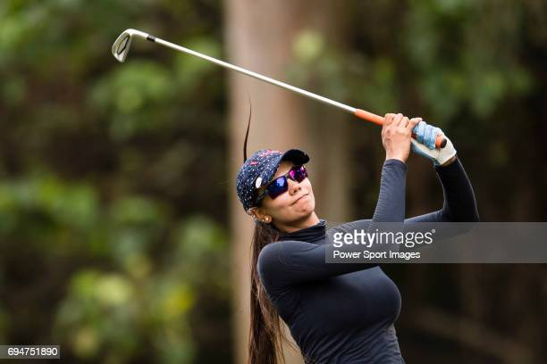 Golfer Sharmila Nicollet of India during the 2017 Hong Kong Ladies Open on June 10 2017 in Hong Kong Hong Kong