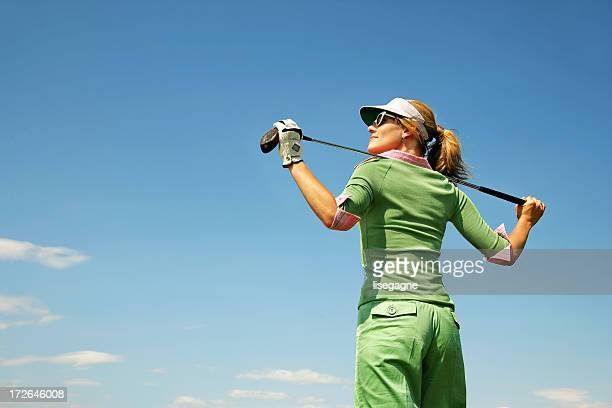 Golfeur debout