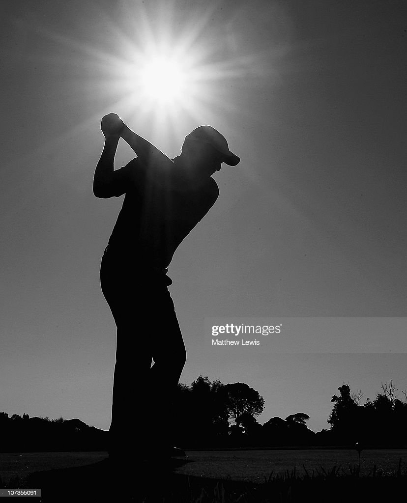 A golfer tees off on the first hole during the PGA International Pro-Captain Challenge 2010 Grand Final at PGA Sultan Course, Antalya Golf Club on December 6, 2010 in Antalya, Turkey.