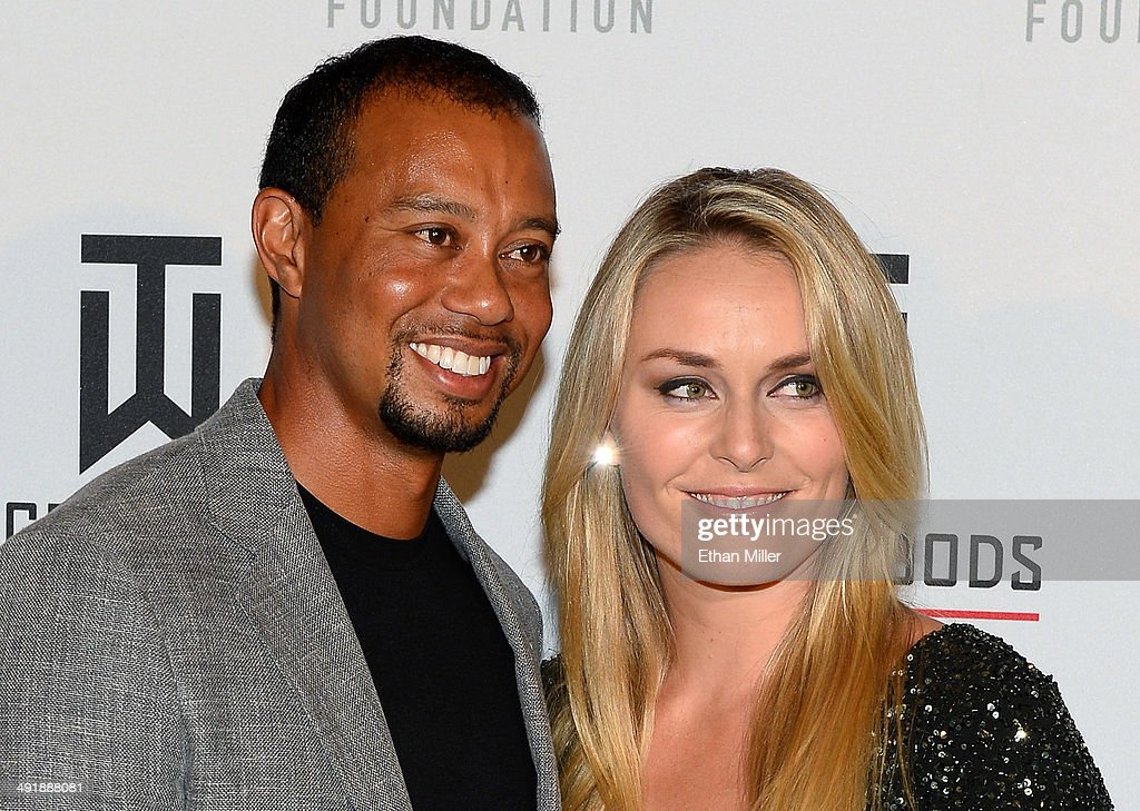 Golfer <a gi-track='captionPersonalityLinkClicked' href=/galleries/search?phrase=Tiger+Woods&family=editorial&specificpeople=157537 ng-click='$event.stopPropagation()'>Tiger Woods</a> (L) and ski racer <a gi-track='captionPersonalityLinkClicked' href=/galleries/search?phrase=Lindsey+Vonn&family=editorial&specificpeople=4668171 ng-click='$event.stopPropagation()'>Lindsey Vonn</a> attend Tiger Jam 2014 at the Mandalay Bay Events Center on May 17, 2014 in Las Vegas, Nevada.
