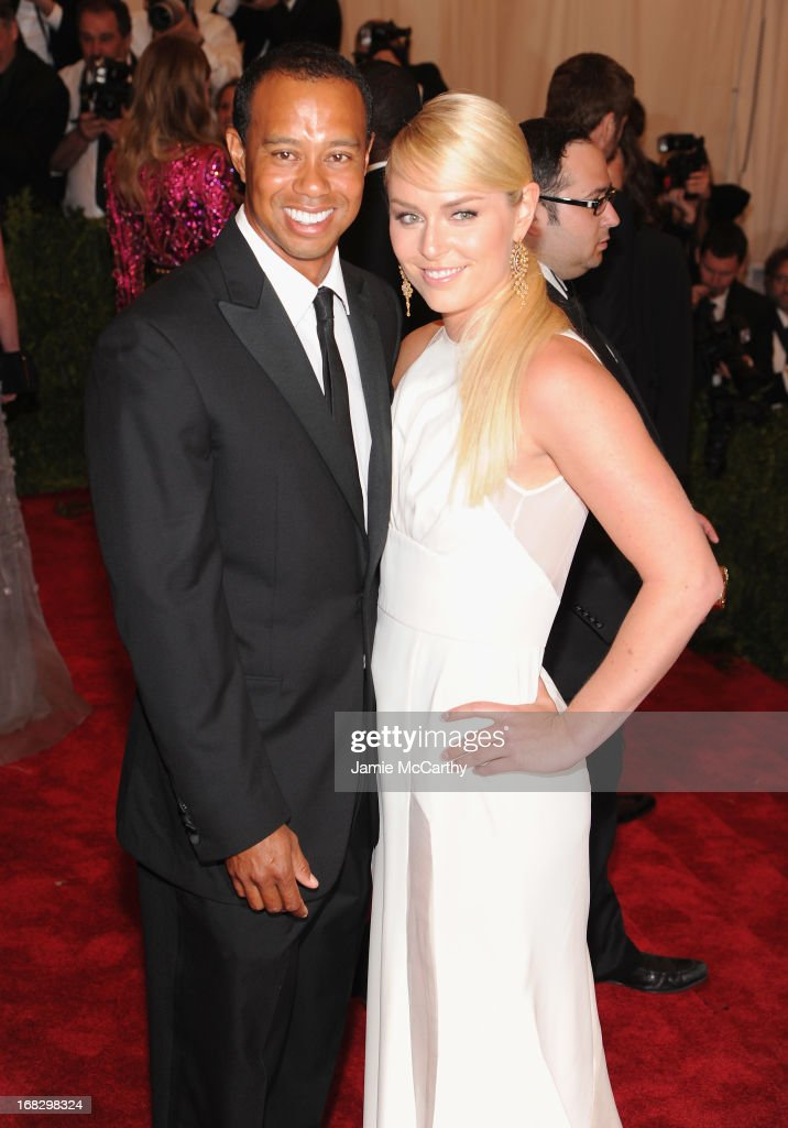 Golfer Tiger Woods (L) and Skier Lindsey Vonn attend the Costume Institute Gala for the 'PUNK: Chaos to Couture' exhibition at the Metropolitan Museum of Art on May 6, 2013 in New York City.