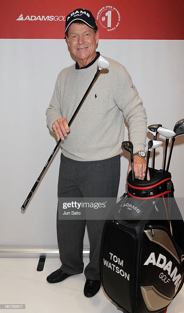 Golfer Tom Watson attends a talk show during Japan Golf Fair at Tokyo Big Sight on February 15, 2013 in Tokyo, Japan.