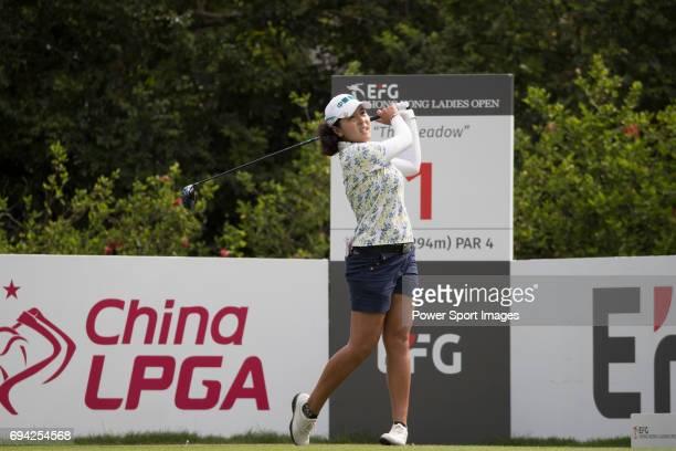 Golfer TzuChi Lin of Taiwan during the 2017 Hong Kong Ladies Open on June 9 2017 in Hong Kong Hong Kong
