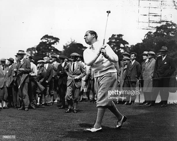 US golfer Walter Hagen winner of the USPGA and Ryder Cup Captain at Wentworth Original Publication People Disc HD0182